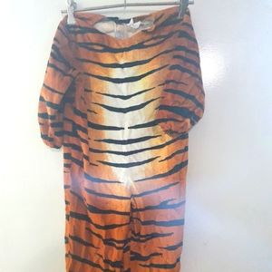 Kids furry Tiger onesie with tail